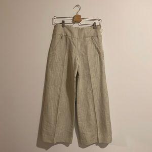 silk and linen oscar de la renta pants